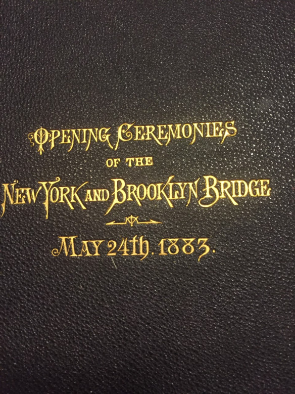 Image the cover of Opening of Brooklyn Bridge May 1883