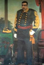 Saigo Takamori in a French-inspired military uniform. Saigo's status as a war hero made him possibly the most widely known and respected of the Meiji leaders.