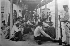 Russian POWs captured at Liaoyang. The Japanese were careful to treat Russian POWs with scrupulous respect as part of a global effort to be accepted as a 'civilized' power.