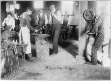 Blacksmithing at Agricultural and Mechanical College, Greensboro, NC