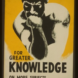 Rodin's Thinker, the New Deal, and Libraries as Spaces of Knowledge
