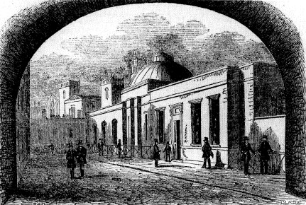 Library of St. Barholomew Hospital in the 1830s, via Geoffrey Yeo, Images of Bart's: An Illustrated History of St. Bartholomew's Hospital in the City of London (London: Historical Publications, 1992), 132.