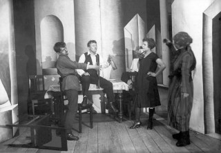Scene from Trial of a Prostitute, staged by the Perm Theater for Sanitary Culture in 1930. Source: Perm State Archive. F. f61. Op. 61p. D. 9140.