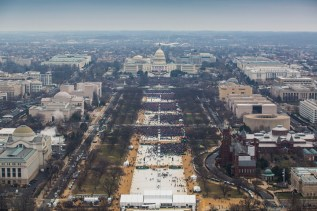 """Presidential inauguration, January 20, 2017, 12:05 a.m., by the National Park Service. Made public in response to an FOIA request. See batch 4 of """"National Mall & Memorial Parks Inaugural Photos,"""" added March 3, 2017, to FOIA—Frequently Requested Documents."""