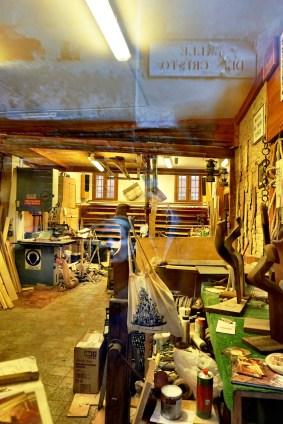 interior studio of Forcolaio Matto