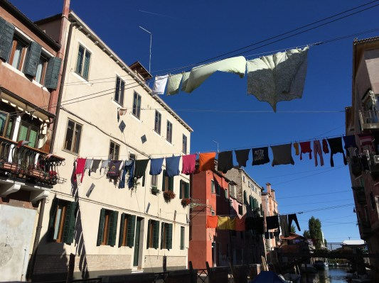 laundry above canal