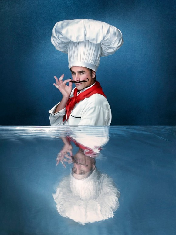 John Stamos as Chef Louis in The Wonderful World of Disney: The Little Mermaid Live