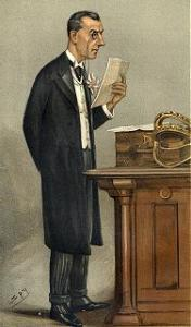 Caricature of Joseph Chamberlain