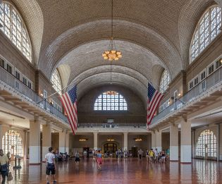 Great Hall of Ellis Island restored
