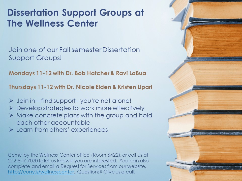 Dissertation support groups