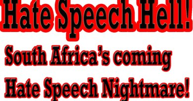 Video & Audio: South Africa's Coming Nightmare: Worst Hate Speech Laws on Earth!