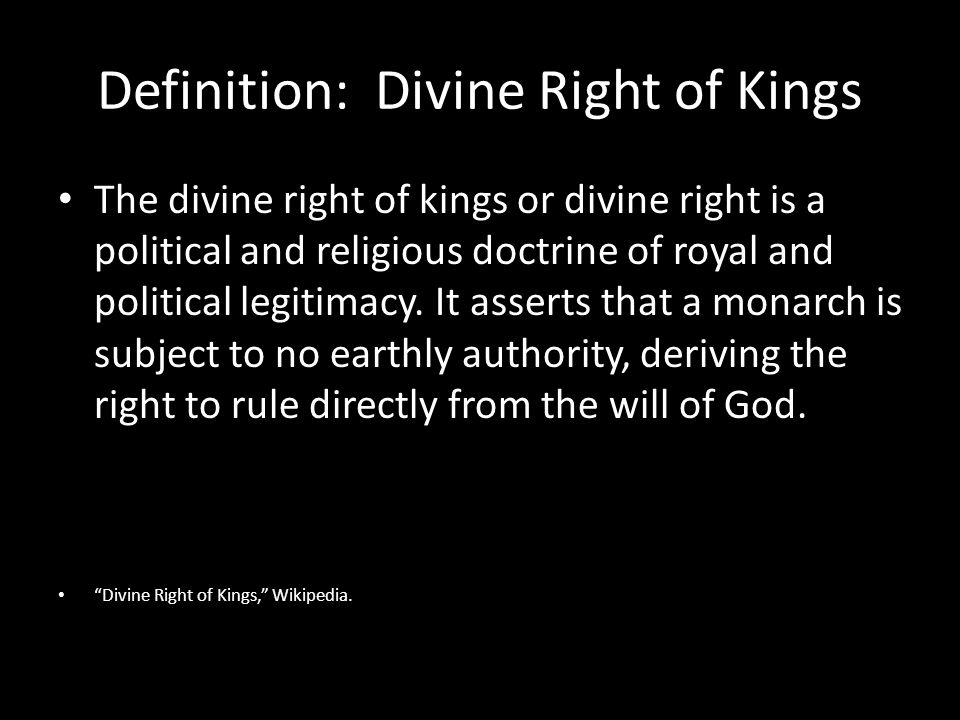 the divine right theory definition