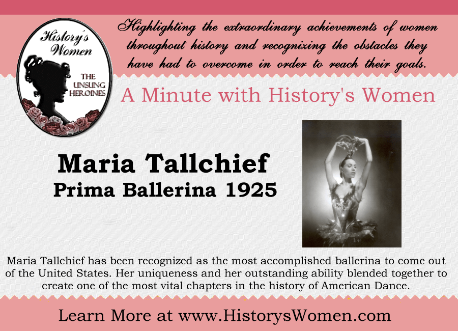 A minute with Maria Tallchief from HistorysWomen.com