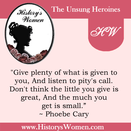 Quote by Phoebe Cary