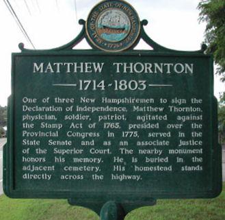 Matthew Thornton Historical Marker