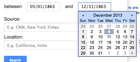 google news dates