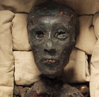The mummy of King Tutankhamun.