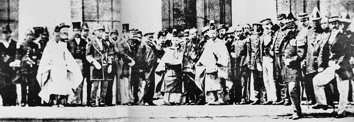 Emperor Meets With Diplomats, 1870