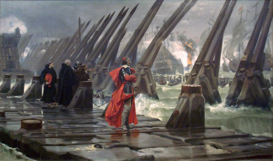 Richelieu at Siege of La Rochelle