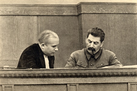 Khruschev and Stalin
