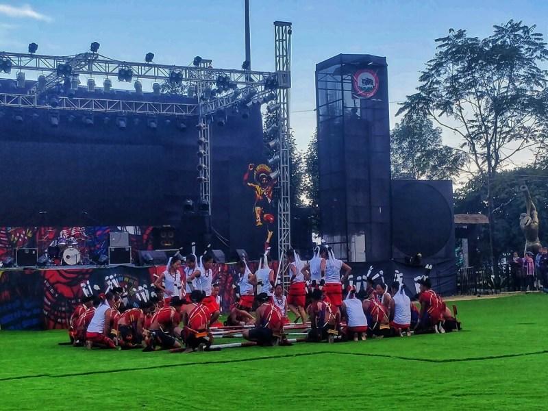 The famous Ao Prak bamboo dance - Cultural performance Hornbill Festival 2019