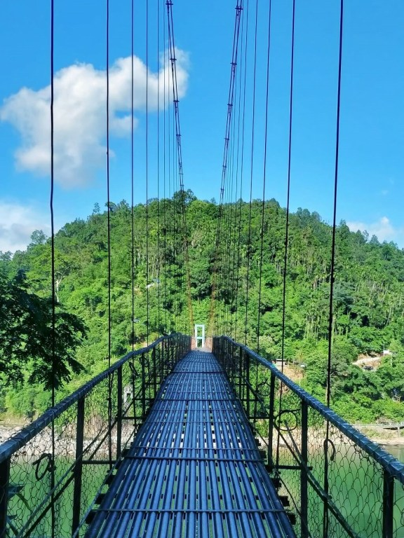 Adventures in India - View of the bridge