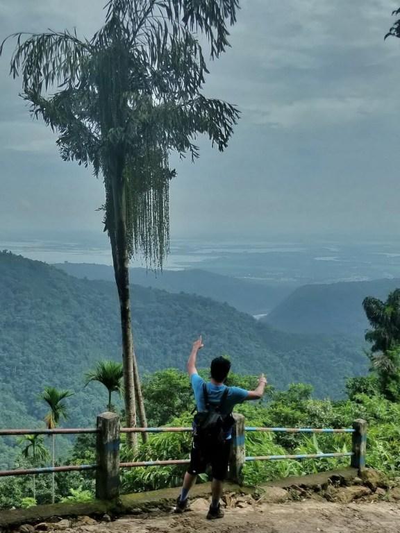 India trek - Amkhoi pointing to Bangladesh plains