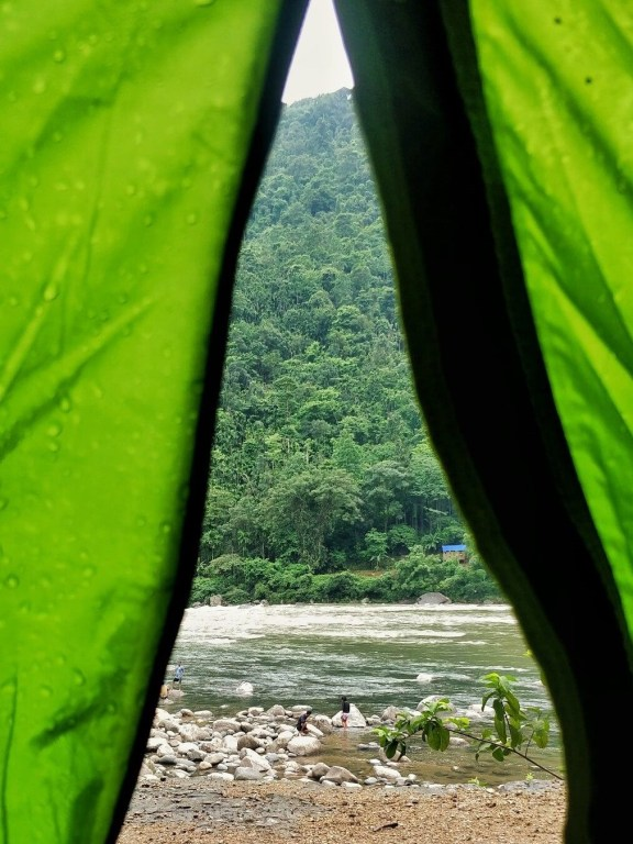 View from the tent - Budget travel in India