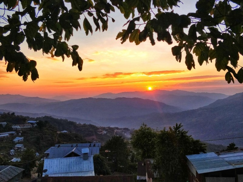 Sunset at Ukhrul Town