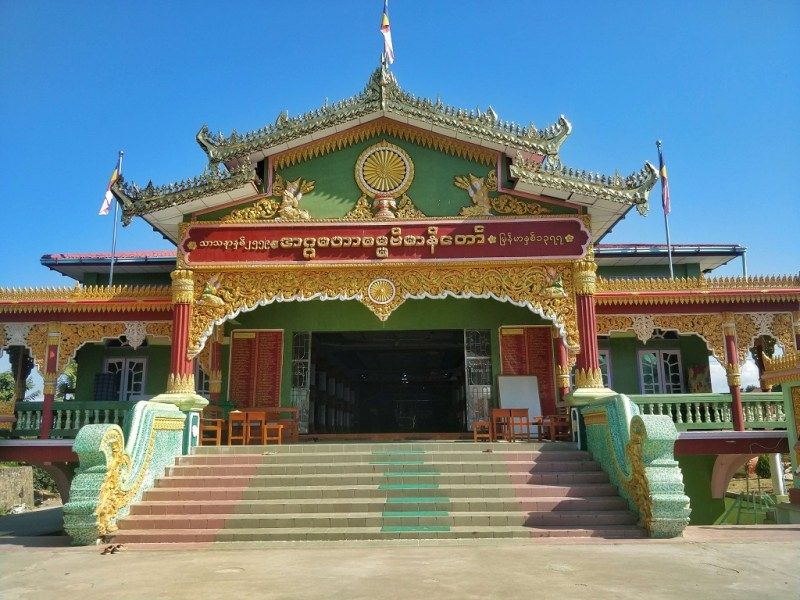 Crossover from Moreh in Manipur to Tamu in Myanmar - a nearby Buddhist temple in Tamu