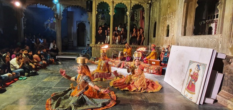 Cultural Dance Show at Bagore Ki Haveli