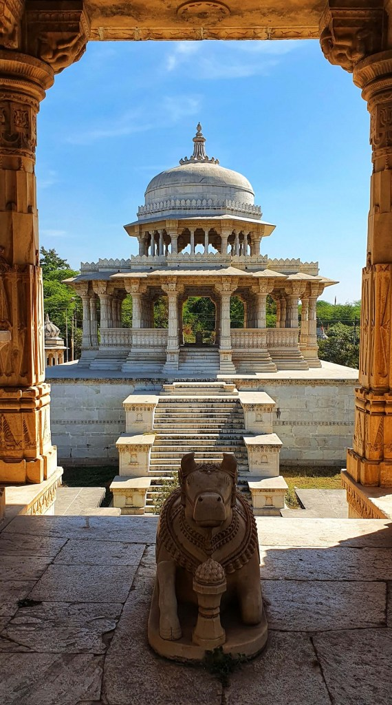 The most prominent cenotaph is of Maharana Sangram Singh