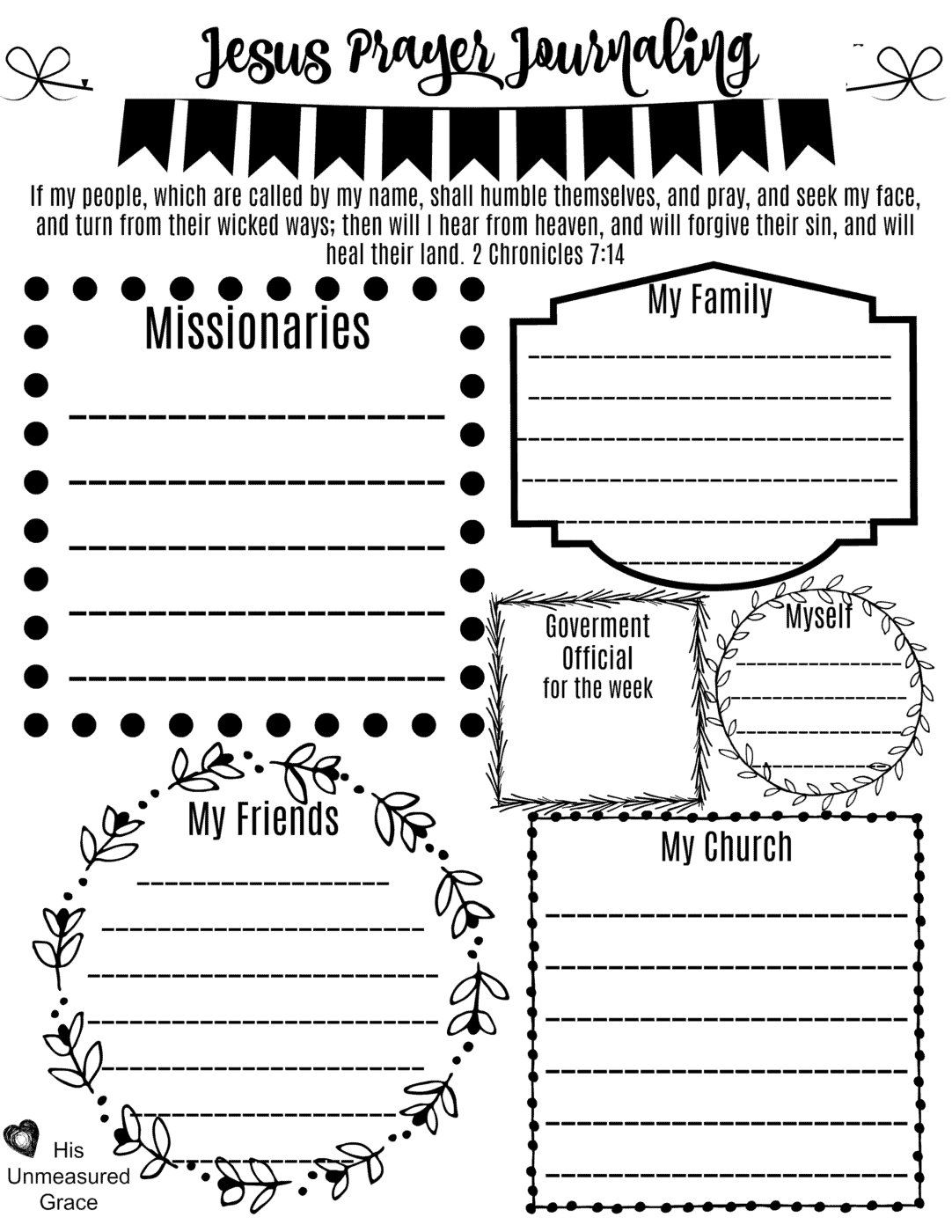 War Room Prayer Printable 3