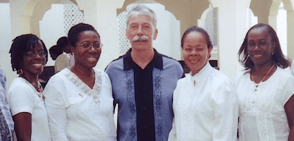 Operation Restoration (Guyana) - Left: Jennifer Flatts, Hazel David-Longe, Pastor Lee, Phyllis Jordan, Donna Collier