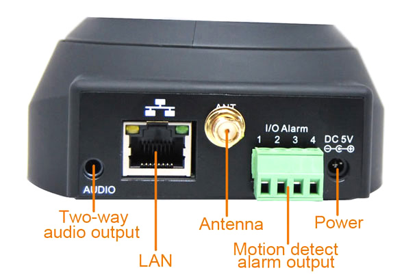 The Foscam Has A Relay That Shorts 2 Wires Pins 1 And 2 When Turned