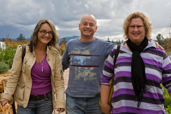 Christiane mit Fulco und Marielle