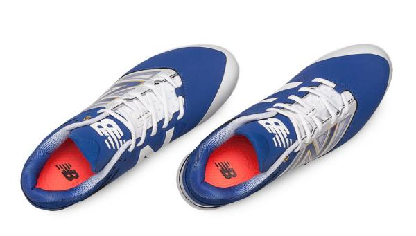 New Balance PL4040D3 - Royal/White Low Rubber Baseball Cleats