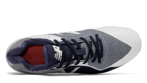 New Balance PL4040DN4 - Navy/White Low Rubber Baseball Cleats