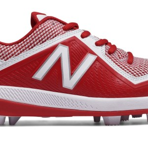 New Balance - Red/White Junior Low Rubber Baseball Cleats (J4040TR4)