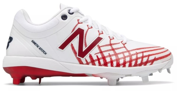 New Balance - White/Red Hero 4040v5 Metal Spikes (L4040AS5)