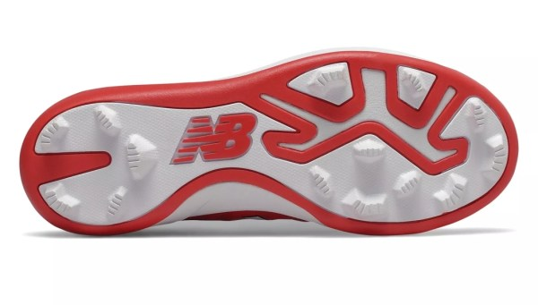 New Balance 4040v5 Youth Molded Cleats - Red/White (J4040TR5)
