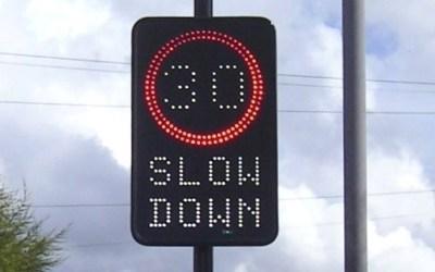 Speed sign update…