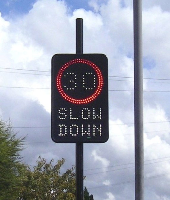 Speed sign update…