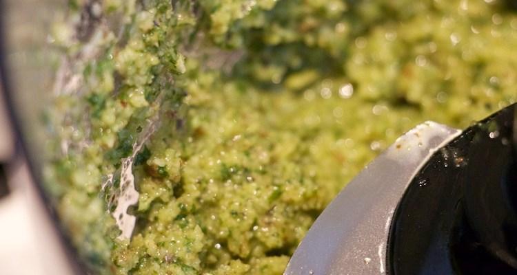 Five Ingredient Basil Walnut Pesto