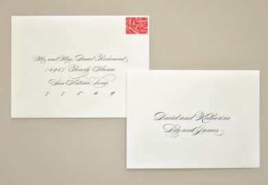 Addressing Your Own Wedding Invitations