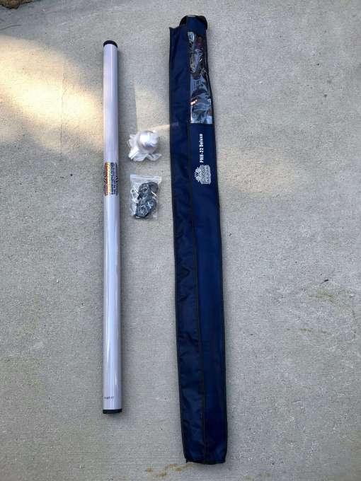 Deluxe 22-Foot Heavy Duty RV Fiberglass Flagpole.
