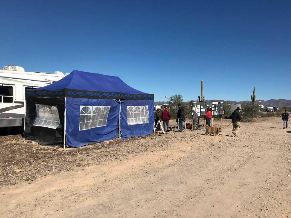 Quartzfest 2019 Welcome Tent