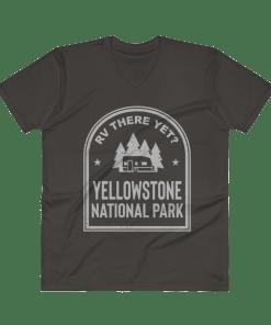 RV There Yet? Yellowstone National Park V-Neck (Men's) Smoke