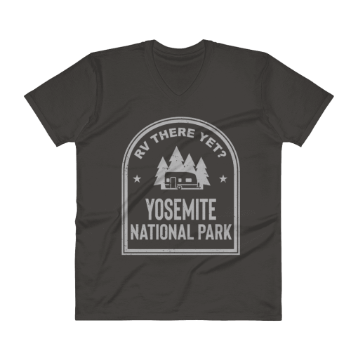 RV There Yet? Yosemite National Park V-Neck (Men's) Smoke