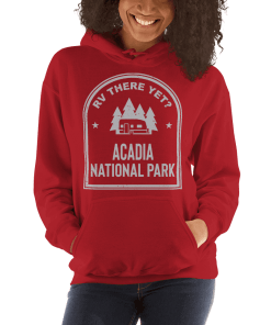 RV There Yet? Acadia National Park Hooded Sweatshirt (Unisex) Red